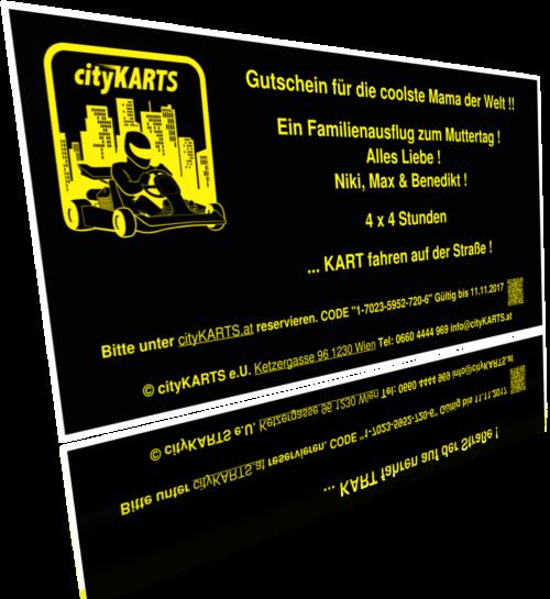 cityKARTS-Gutschein Beispiel Widmung