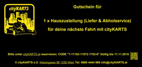 cityKARTS Lieferservice Gutschein HIN und RETOUR